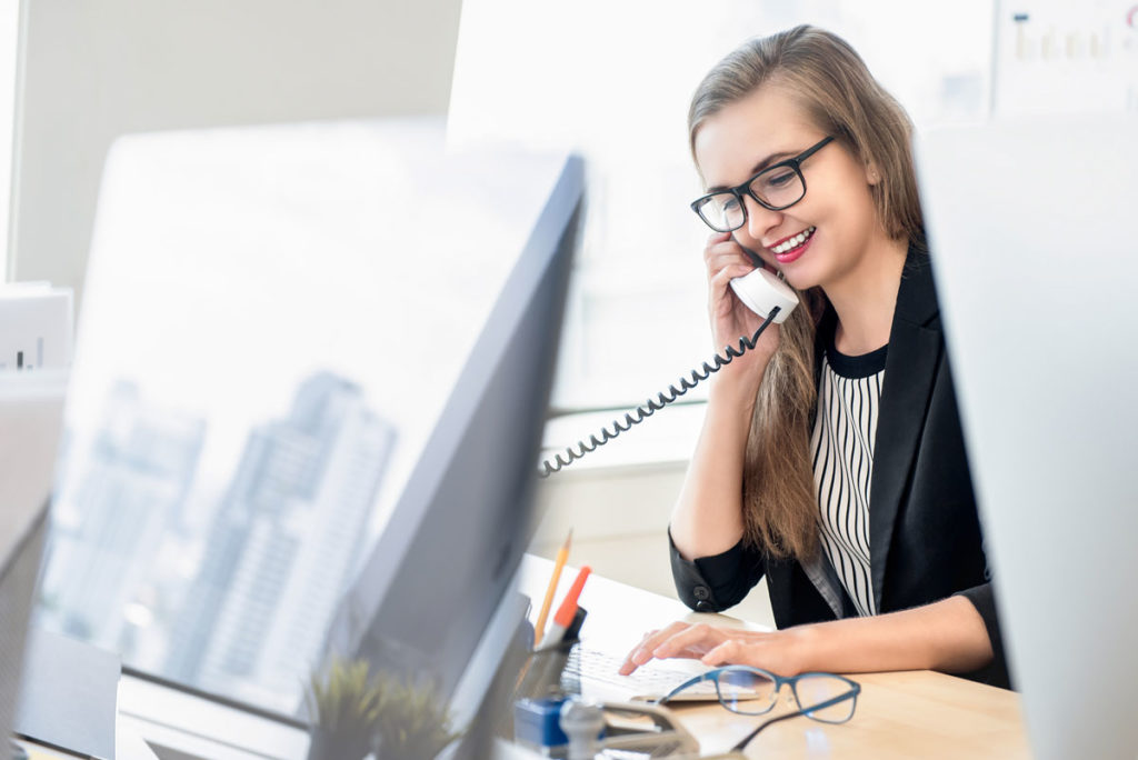 Receptionist tracked call is being monitored